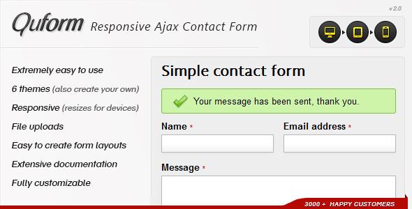 Download Quform - Responsive Ajax Contact Form v2 3 0 Free